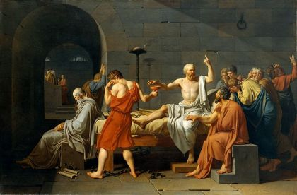 La Mort de Socrate, Jacques-Louis David, 1787